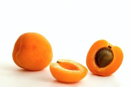 Apricot on white ground