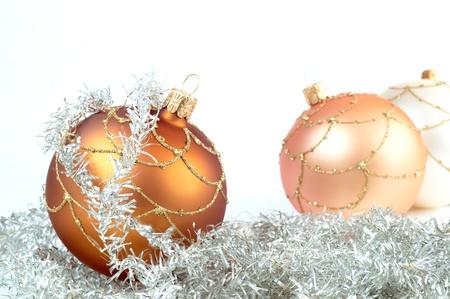christmas ground: Christmas decorations on white ground