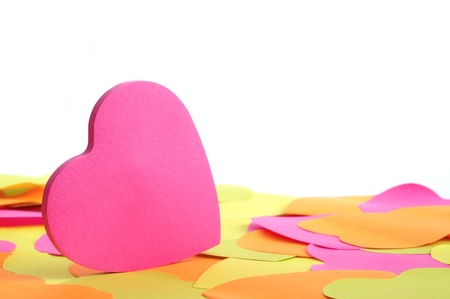 backcloth: Paper heart with white backcloth