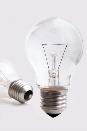 standing bulb on a white background Stock Photo - 17419404