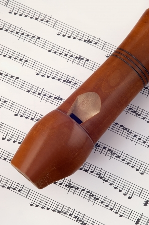 estrofa: flauta de madera tumbada en la notaci?usical