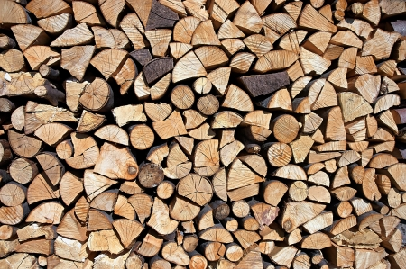 imposed: Imposed by blocks of wood  Stock Photo
