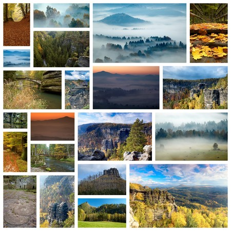 Collage Landscape and nature of Bohemian Switzerland photo