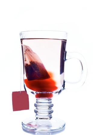 白地に茶のガラス