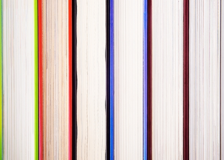 Bundle of of books in colorful plates photo