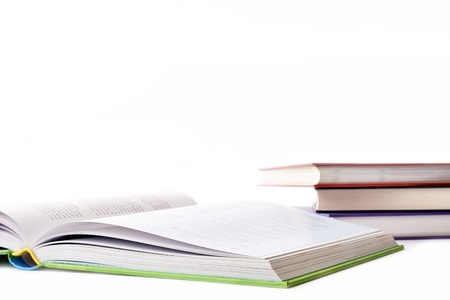 Four volumes of books on a white background photo