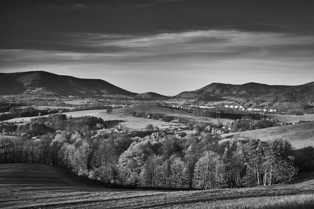 mountainous: View for spring mountainous landscape Czech Republic