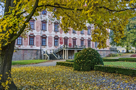Autumn view of the baroque chateau LibochoviceCzech Republic