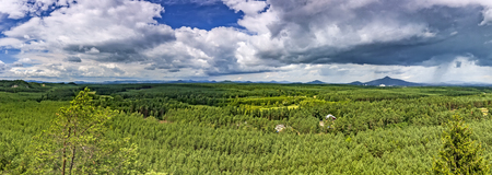 Summer panoramic view of the countryside RalskoCzech Republic