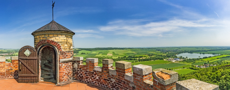 Summer panoramic view from the tower CvilinCzech Republic