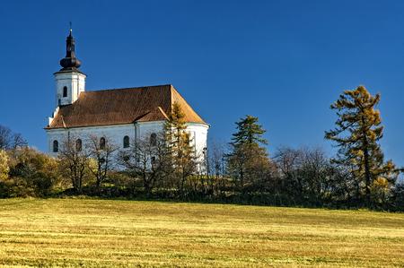 Church on the hill Uhlirska near the city BruntalCzech Republic
