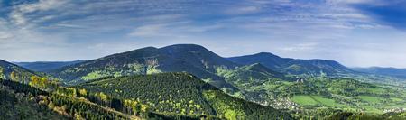 Panoramic view of the Beskydy MountainsCzech Republic Reklamní fotografie