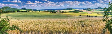 Panoramic view of the summer landscape of the Czech Middle MountainsCzech Republic Reklamní fotografie
