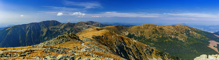 View of the mountain landscape of the Low Tatras-Slovakia