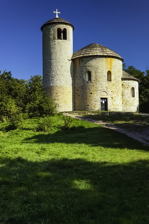 Rotunda saint Jiri a saint Vojtech on Mount Rip/Czech Republic/ Фото со стока