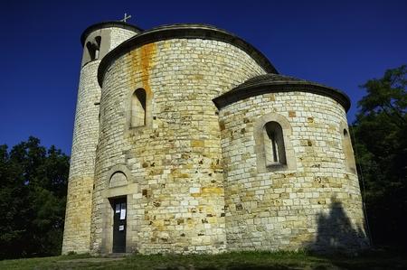 Rotunda saint Jiri a saint Vojtech on Mount Rip/Czech Republic/ Archivio Fotografico