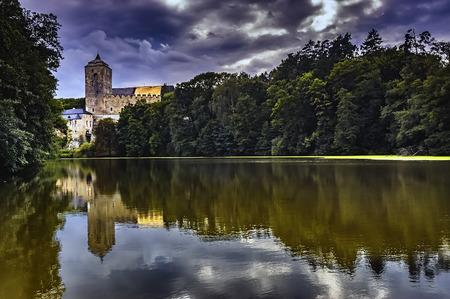 Summer view of historically castle Kost/Czech Republic/ Reklamní fotografie