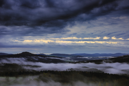 Morning view of the landscape of Czech SwitzerlandCzech Republic