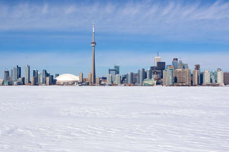 toronto: Winter skyline of Toronto, Canada  Stock Photo