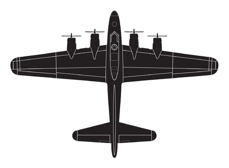 aircraft bomber: classic big war plane Illustration