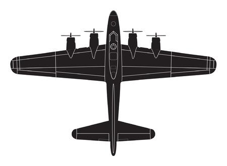 classic big war plane Illustration
