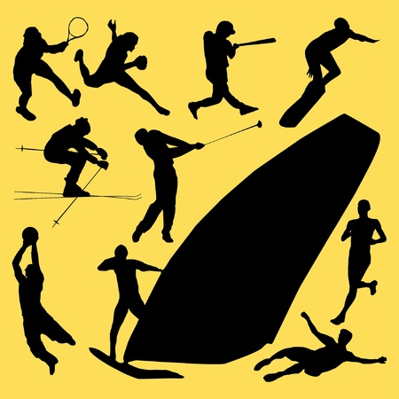 windsurf: ten type of sports Illustration