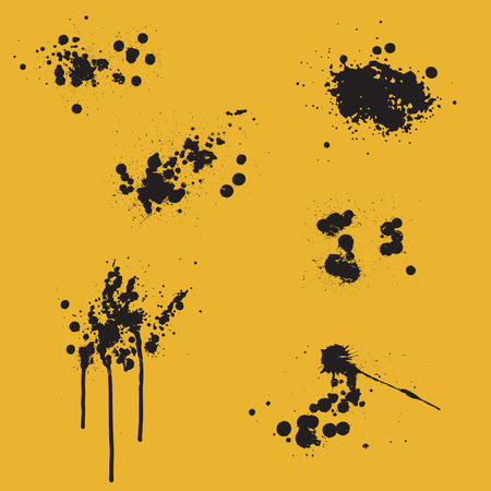 spitting: ink splits - vector design elements Illustration