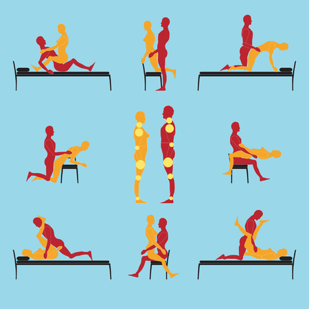Sex positions on a bench