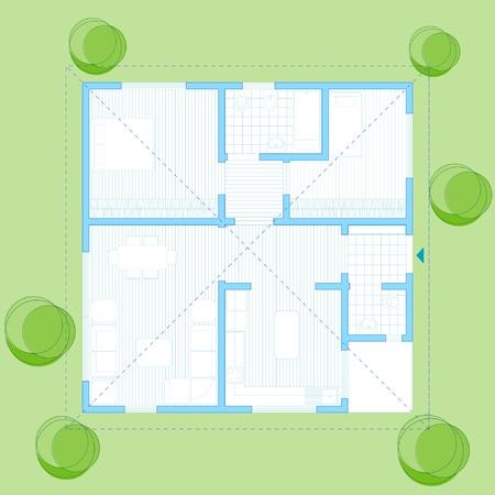 plan maison: 100 m2 Maison de famille plan