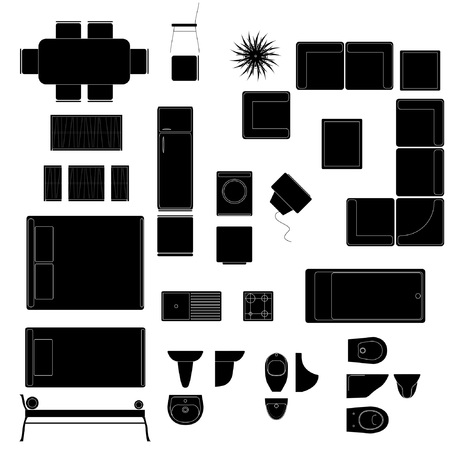 view: house vector design elements Illustration
