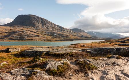 스칸디나비아 풍경 산 스웨덴 kungsleden Fjell Fjell 스톡 콘텐츠
