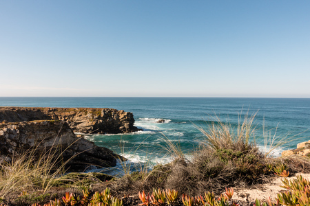 Portugal Algarve ocean landscape Stock Photo