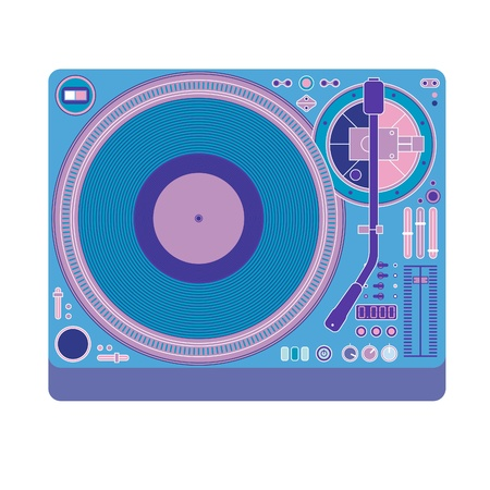 vector image of a classic DJ mixer Stock Vector - 19541188
