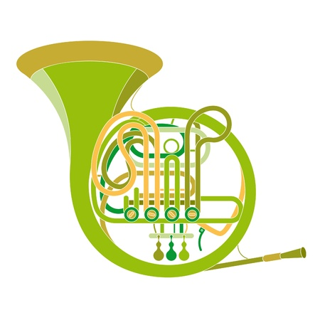 vector image of a classic copper pipe musical instrument Stock Vector - 19541192