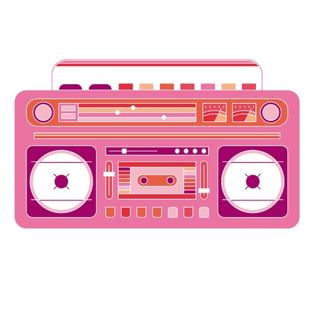 vector image of a classic boom box Vector