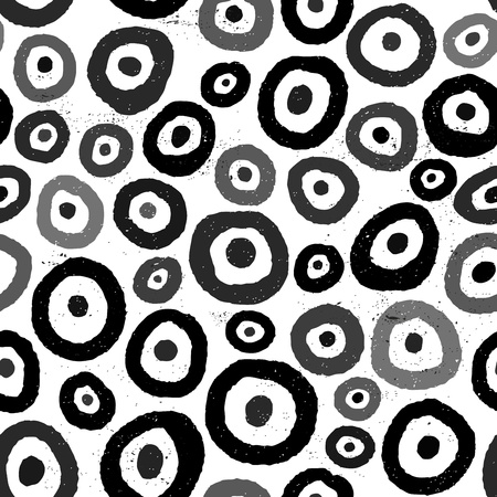 seamless background pattern, with circles, grunge Vector