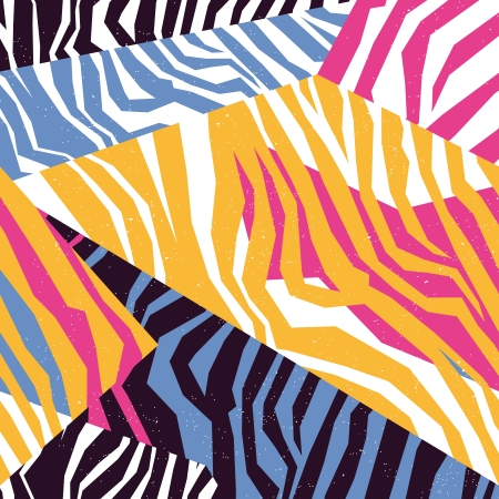 Seamless colorful animal skin texture of zebra Фото со стока - 23866714
