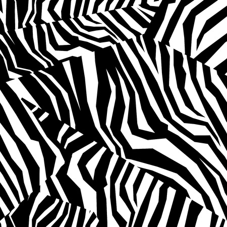 Seamless colorful animal skin texture of zebra Vector