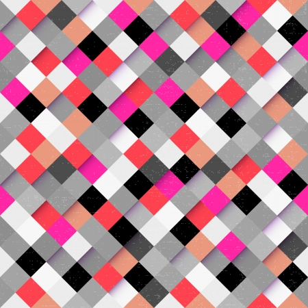 optic: Abstract optic effect colorful square pattern background. Vector file layered for easy manipulation and coloring.