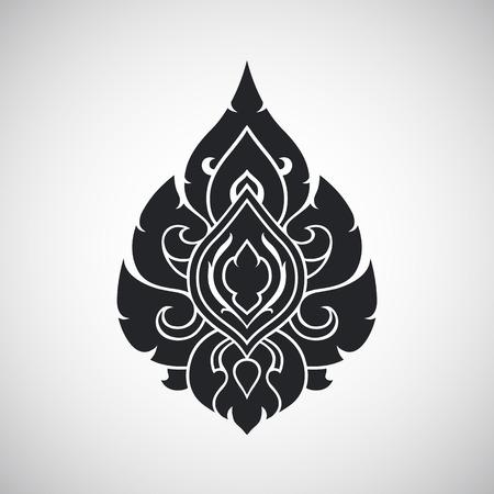of siam: Thai arts angel, vector pattern Illustration