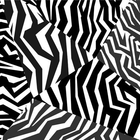 Seamless colorful animal skin texture of zebra Vector