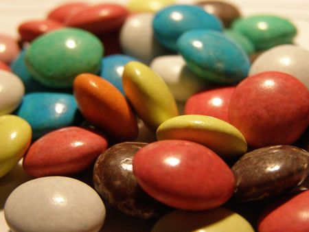 comfit: Sweet pills. Stock Photo