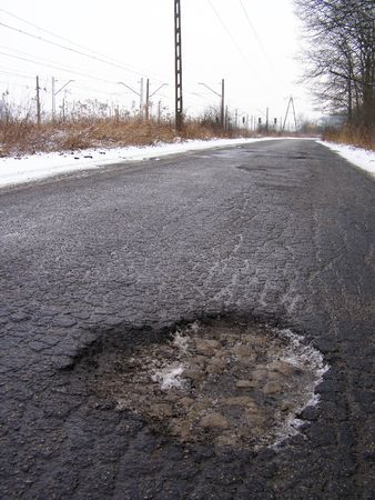 This is one of few tears in road. Stock Photo - 4106874