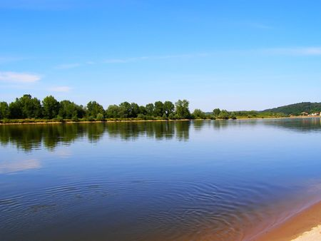 This is the Wisla - the longest river in Poland. Stock Photo