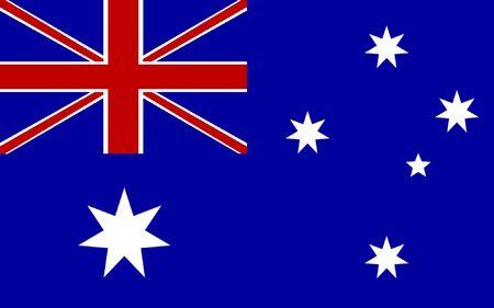 Australia flag illustration, computer generated.