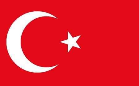 polity: Turkey flag illustration, computer generated. Stock Photo