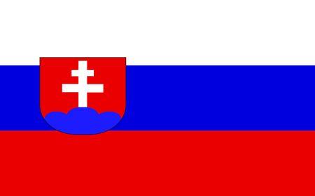 polity: Slovakia flag illustration, computer generated.
