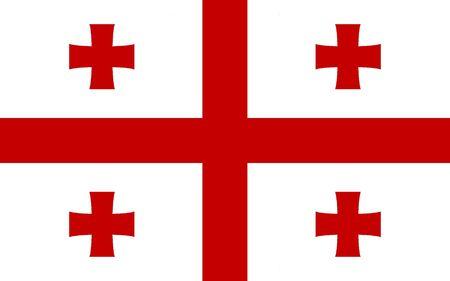 Georgia flag illustration, computer generated. Stock Photo