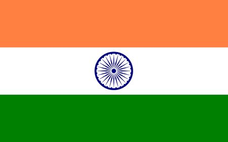 polity: India flag illustration, computer generated.