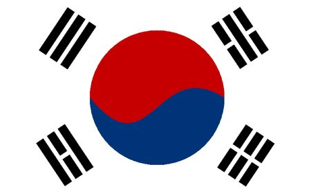 polity: This is South Korea flag illustration, computer generated.